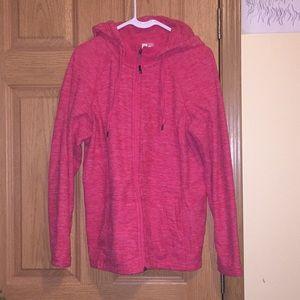 womens pink zip up jacket